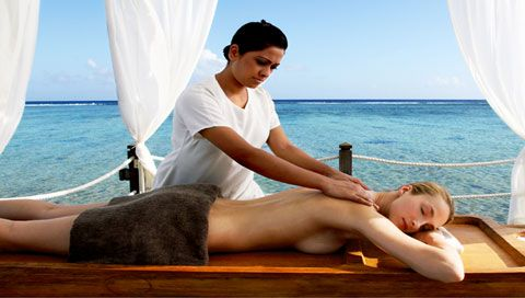 Massage with views of the sea.
