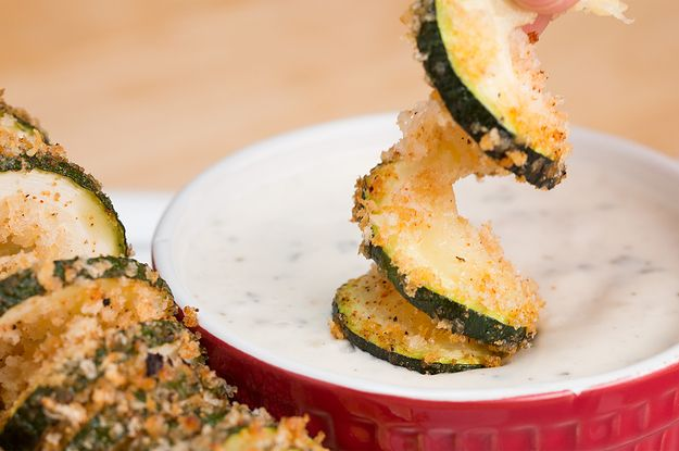 Let this zucchini twirl it's way into your heart, I'm also thinkin' cucumber in ranch dressing.