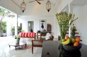 Living area at Santai Villa