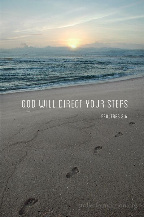 """stollerfoundation: """" God will direct your steps. """""""