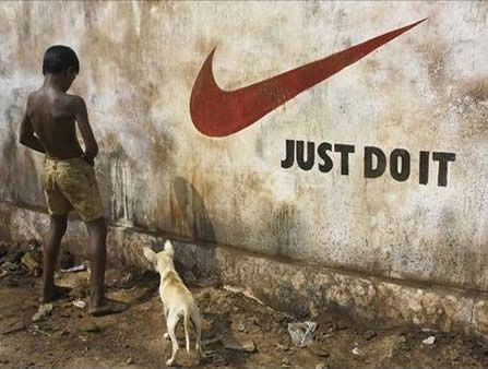 """oh well the sign says """"just do it"""""""