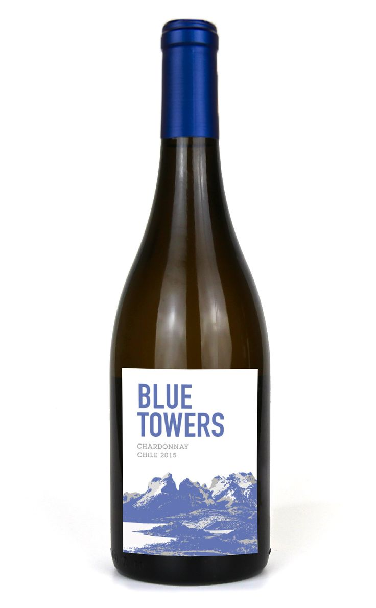 BLUE TOWERS CHARDONNAY 2015ChileMELON NECTARINE PEAR PINEAPPLE APPLE This delicious Chardonnay from Chile has aromas of ripe tropical fruits like pineapple, melon and nectarine with a touch of fresh apple, pear and white flowers. Enjoy this wine with lemon and rosemary roasted chicken or crab risotto. Pair with a soft and creamy Brie or Camembert cheese.