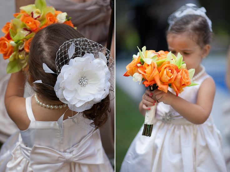 cute headpiece for flower girl :)