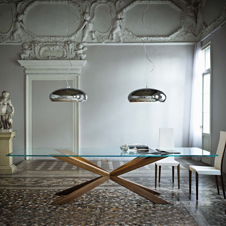 121 best images about mesas de cristal on pinterest glass bar table tables and pies - Tavoli in cristallo allungabili cattelan ...