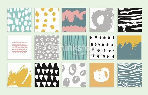 Vector Art : Set of 15 creative cards.
