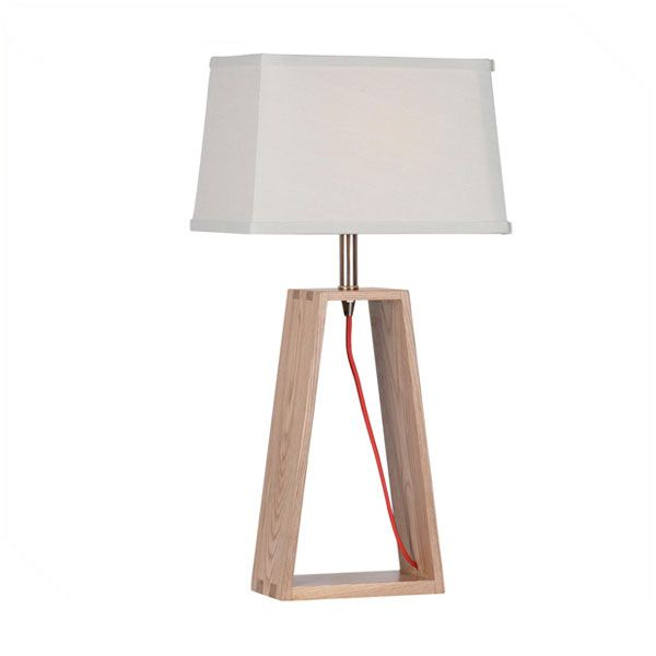 Simple Table Lamp, Size: 280*200*530 #wooddesign #woodenlamp #