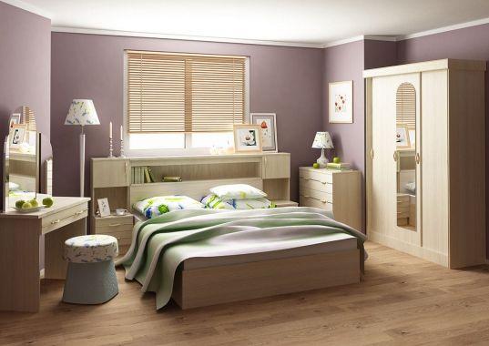 Спальный гарнитур «Бася» (Беленый дуб) на Маркете VSE42.RU