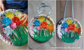 mamatosiaczka: Obrazek na Dzień Matki z papierowych talerzyków