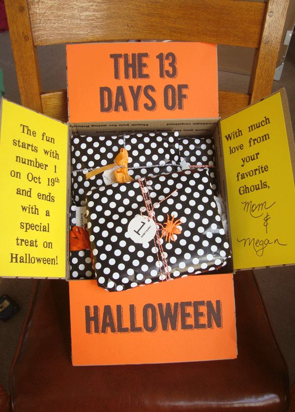 13DaysOfHalloween - would be fun for a college student or someone living away…