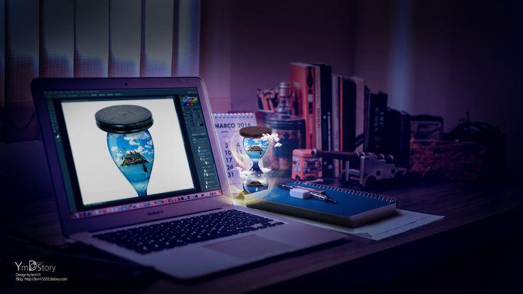 Photoshop Artwork #14 - hourglass :: Ym.d_story