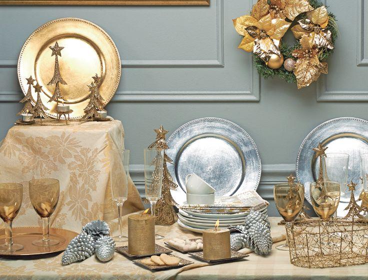 El dorado y plateado se unen en tu mesa para deleitar a tu familia en una elegante cena  de navidad. ¿Cuál será el menú de este año?  ¡Inspírate con nosotros!  #Deco#Navidad #Santa  #Hogar #EasyChile #EasyTienda#TiendaEasy