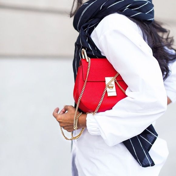 Chloe drew mini red grained nappa See my other listings for details Chloe Bags Crossbody Bags