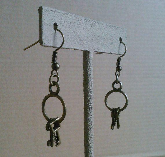 Locksmith earrings by AbandonedWarehouse on Etsy