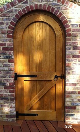 oak arched framed ledged and braced door back view. & 13 best Arched doors images on Pinterest | Arched doors Front ...