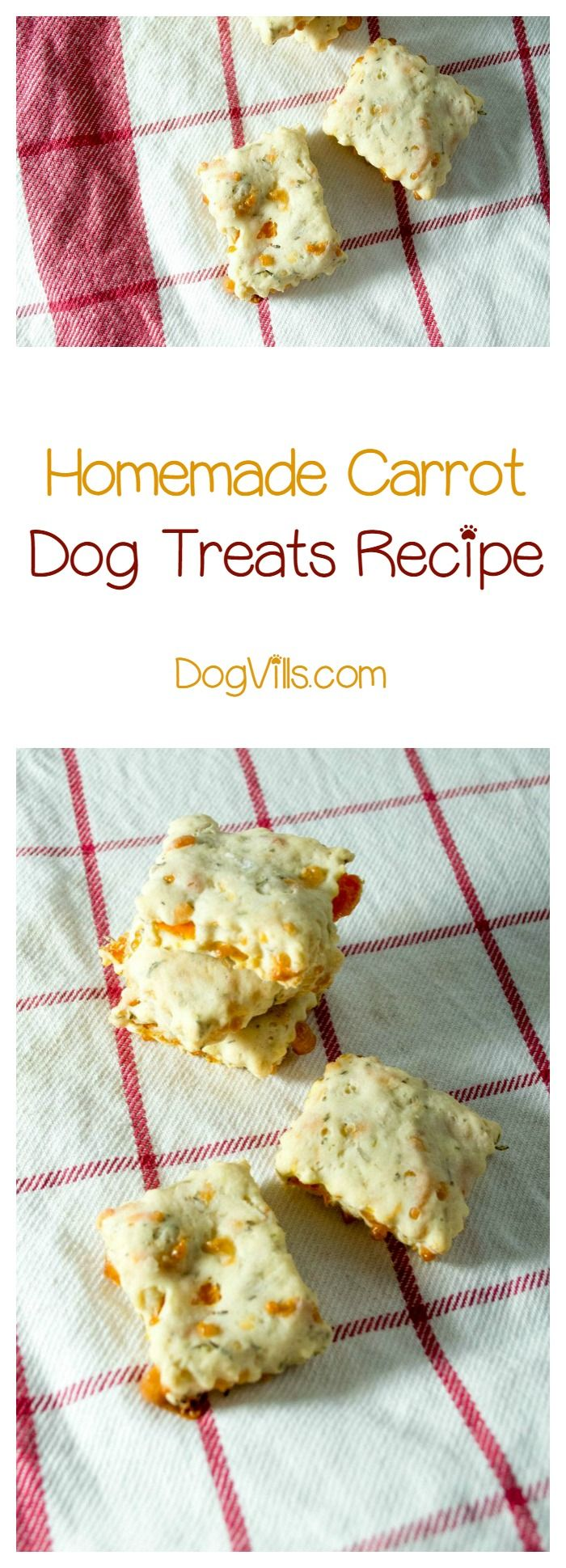Want to give Fido a veggie treat he'll love? Check out these yummy homemade carrot dog treats! Grab the recipe!