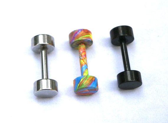 Round Stud Earrings Screw Stud Earrings by JewelryByKonstantis