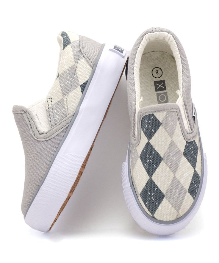 Look at this #zulilyfind! XOLO Shoes Gray & Black Preppy Slip-On Sneaker by XOLO Shoes #zulilyfinds
