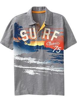 Gray surf theme shirt