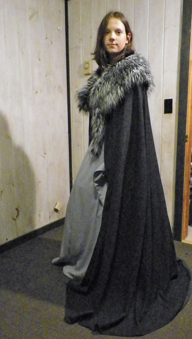 Lyana Stark Cape from the Game Of Thrones. $130.00, via Etsy.