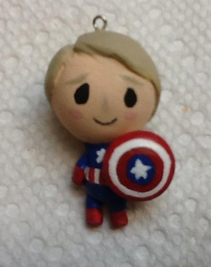 Marvel Avengers Chibi Charms Made to order. $9.00, via Etsy.