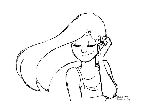 I've been having fun animating hair at work lately so i ...