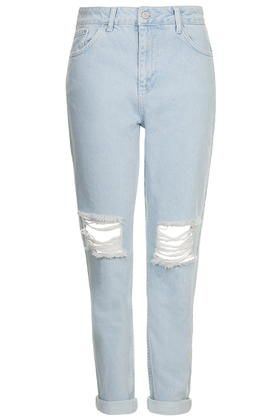 MOTO Ice Ripped Mom Jeans