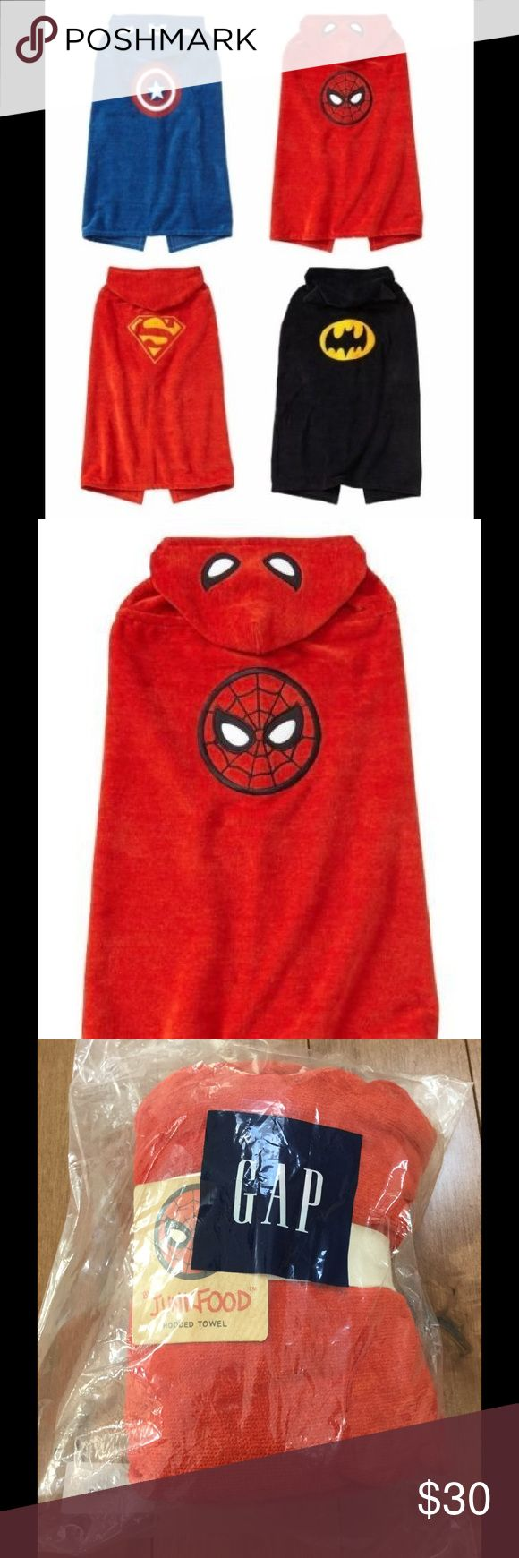NWT Gap Junk Food Spider-Man hooded towel for kids Super cute kids Spider-Man hooded towel.  Brand new!  Great for little Spider-Man fans!!! GAP Swim