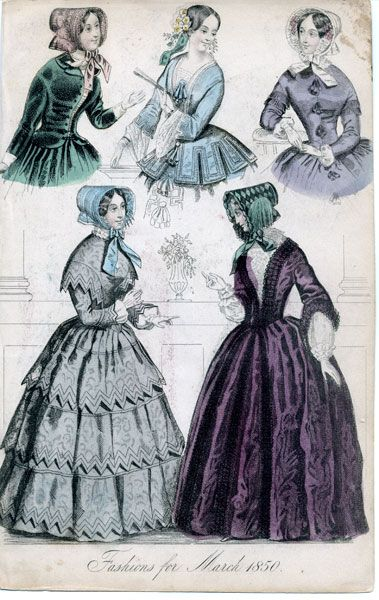 1850 Fashion | Fashions for January 1850