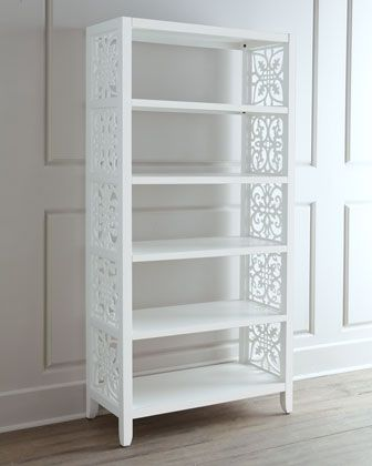"""White Spur"" Bookcase at Neiman Marcus."