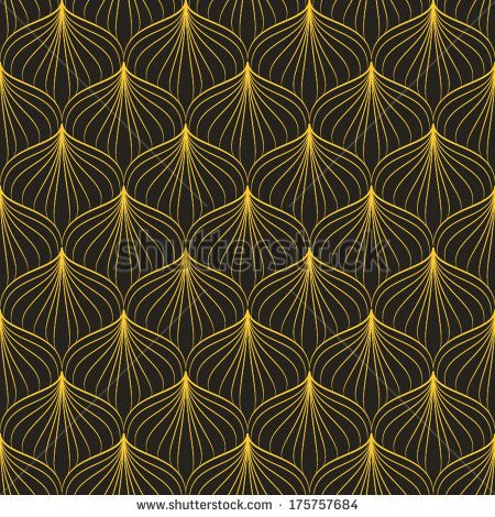Abstract geometric Art Deco pattern. Seamless vector background. Vintage style texture. Vector illustration in art nouveau style.