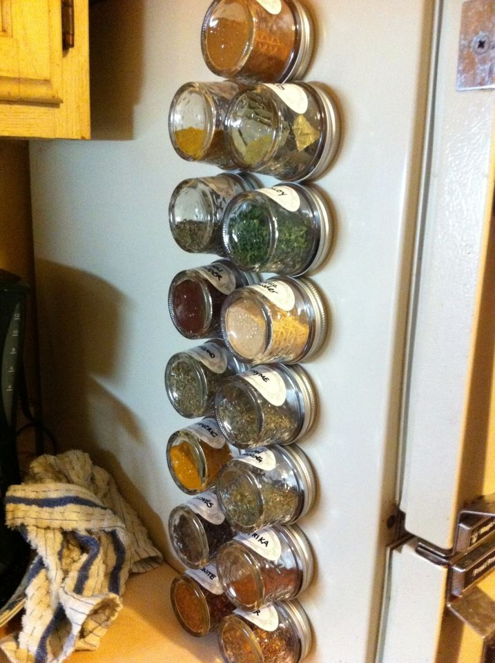 Great space saving idea, especially for an apartment with no pantry!
