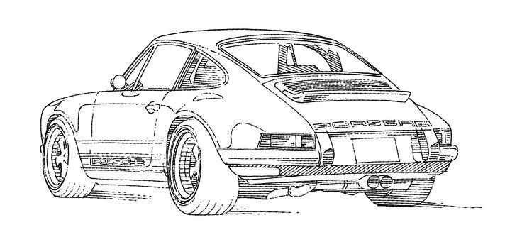 #Porsche #Singer #futureclassic #attentiontodetail #tegnepeter #illustration #heydenreich