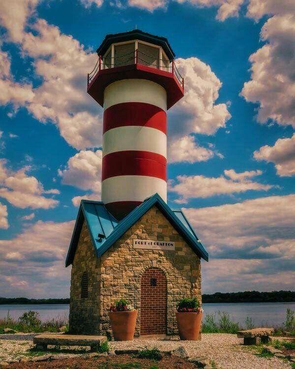 Grafton Lighthouse, Grafton, Illinois.                                                                                                                                                      More