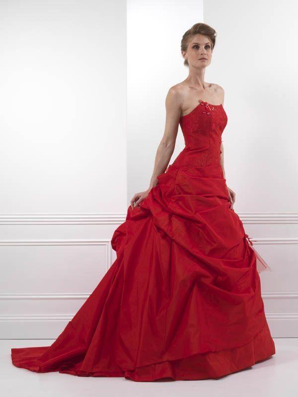 robe rouge Insouciante de Bochet Creations