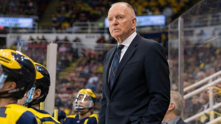Coach Red Berenson & the Michigan Wolverines Hockey Team  at Joe Lewis Arena