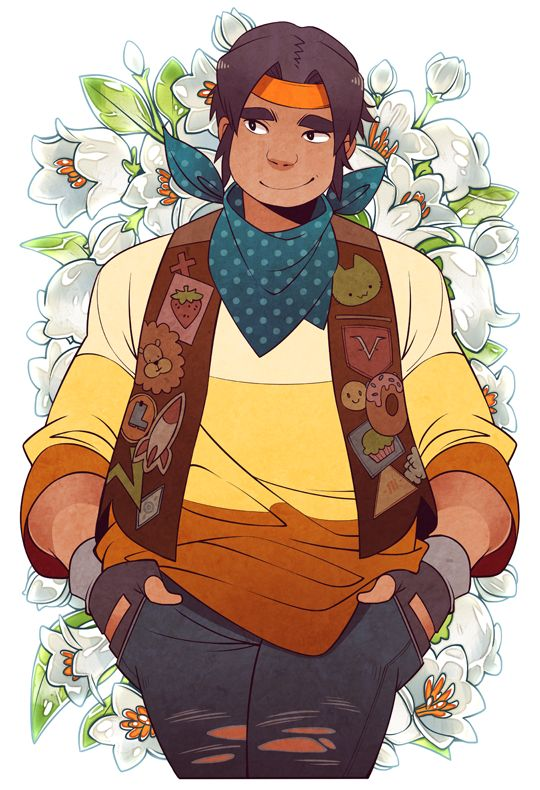 Hunk of white lilies flowers from Voltron Legendary Defender
