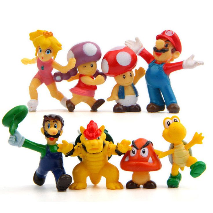 8pcs/lot Hot Sale Mario Action Figures Toys Dolls Game Cartoon Toys Models Cut D #Redoublelove