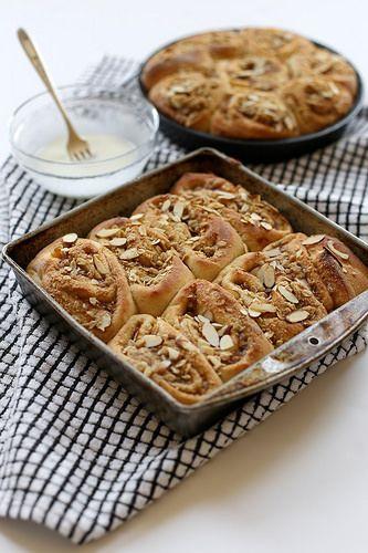 Peach Cobbler Cinnamon Rolls by joy the baker, via Flickr