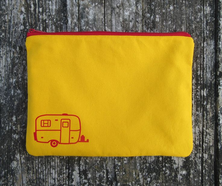 Yellow Canvas Pouch, Scamp Camper, Casita Camper, Burro Camper, Glamper, Glamping Decor, Glamper Gear, Caravan Decor, Camping Gear Bag, Camp by liltinpurse on Etsy https://www.etsy.com/listing/251326256/yellow-canvas-pouch-scamp-camper-casita