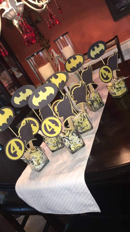 Batman birthday party centerpiece Cricut