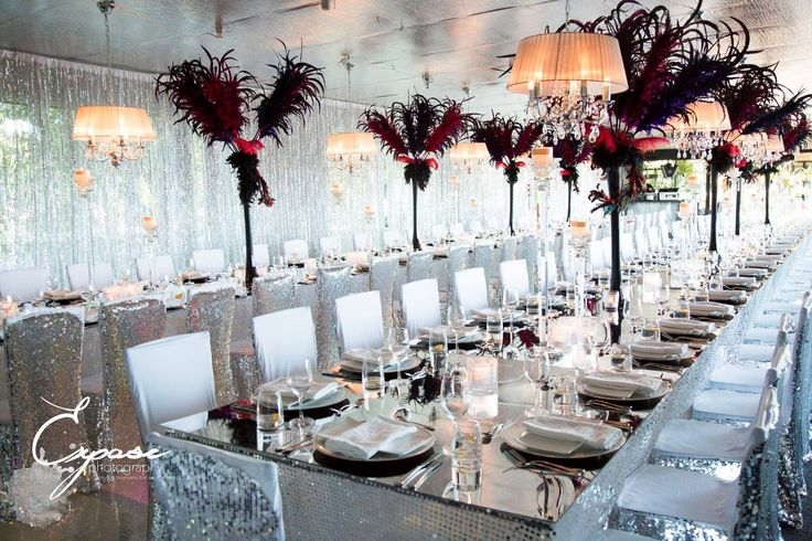 Looking for a flamboyant, feathery and utterly fabulous wedding theme? at Glen Albyn Estate #glenalbynestate #cancan #1920's