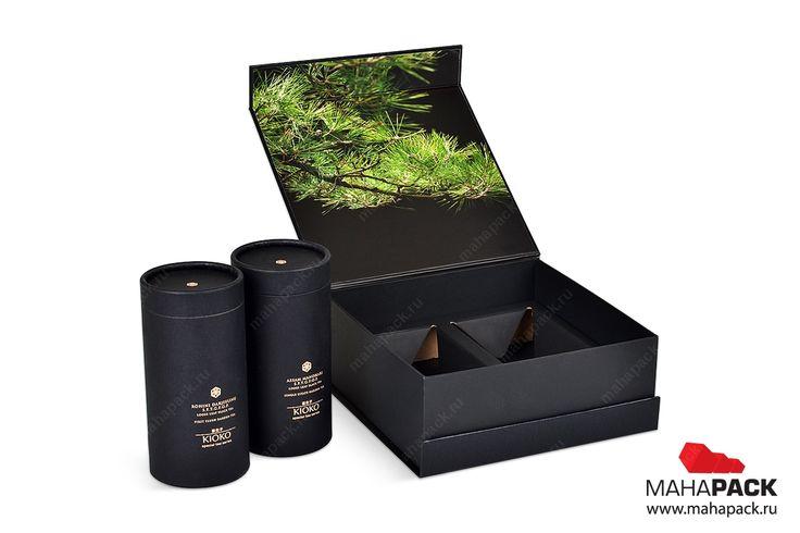 Кашированная коробка для двух банок чая под заказ | изготовление коробок, коробки подарочные, подарочная упаковка на заказ, упаковка коробок | Mahapack.ru - изготовление индивидуальной упаковки