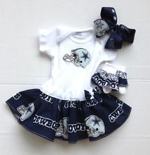 Dallas Cowboys Baby Gear | Dallas Cowboys Baby Girl Dress Cheerleader with bow and socks free ...