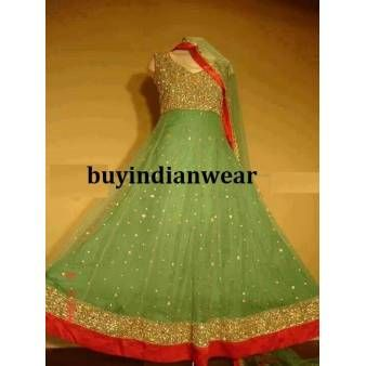Made To Order Anarkali Suit with handwork. FREE shipping offer