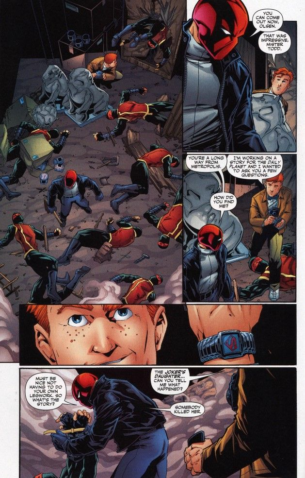 Red Hood and Jimmy Olsen