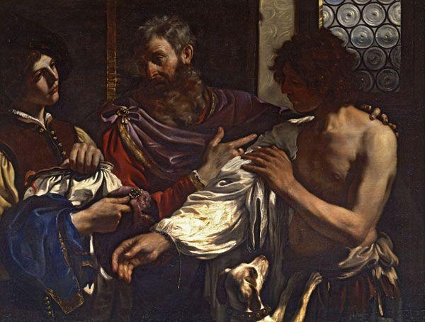 Guercino - Il ritorno del figliol prodigo - 1627-28 - Roma, Galleria Borghese - Risposta 76: proviene dalla collezione Lancellotti