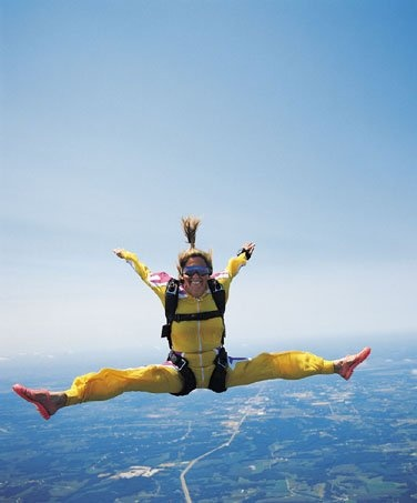 Ohio great-grandmothers skydive for charity