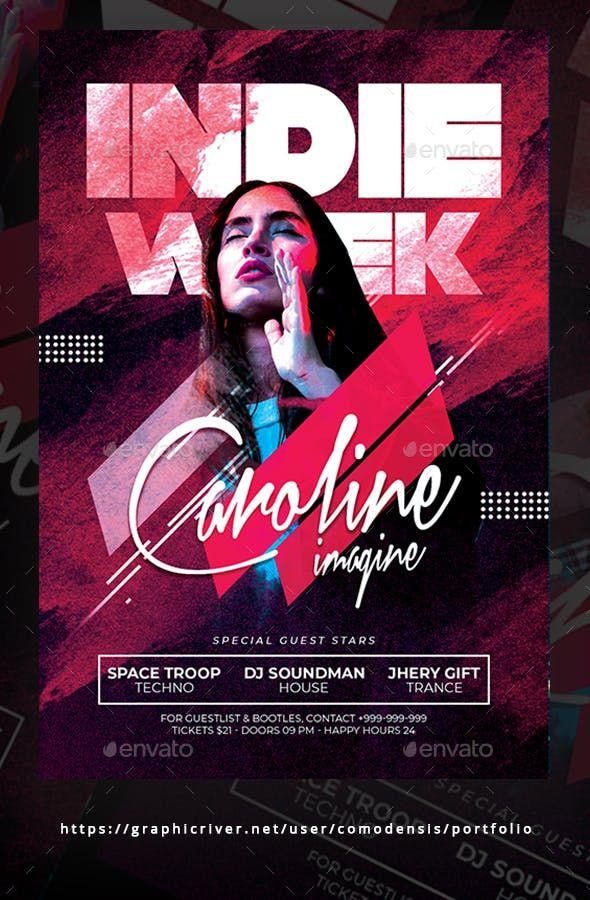 Indie Week Flyer Design Grafico Inspiracao Cartazes De Design Grafico Projetos De Design Grafico
