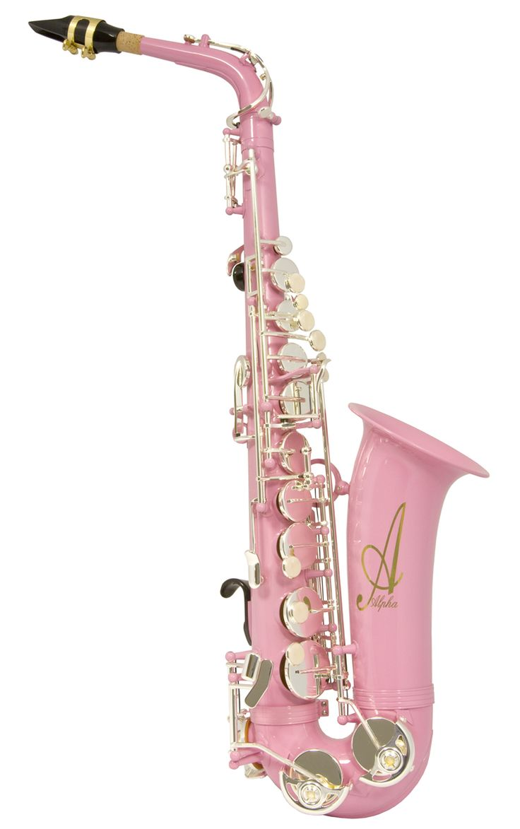 pink Alpha sax with silver-plated mechanism