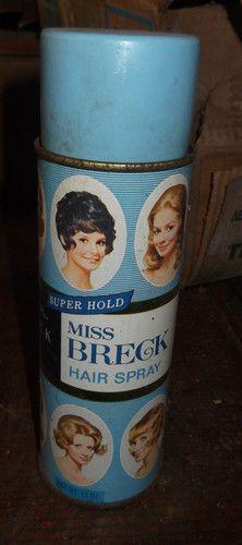 Retro Vintage MISS BRECK Aerosol Hair Spray 1970s
